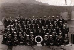Crew Of The Minesweeper HMS Newark 1920s