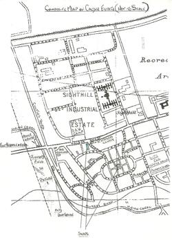 The entire Calders Prefab Estate 1947