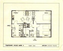 ARCON Prefab interior 1946