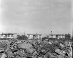 Prefabs awaiting demolition 1966