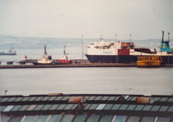 Leith Docks in the past.