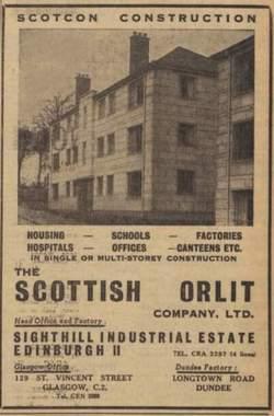 Sighthill Industrial Estate 1953 -  The Scottish Orlit Co.