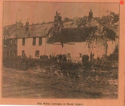 """""""OLD WHITE COTTAGES of RURAL ASPECT"""" the Home of my Descendant's"""