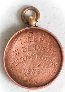 Murrayburn Primary School - Inspectors Cup Winners Medal 1962 ( Reverse )