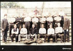 Leith Police Tug of War team c1890 's