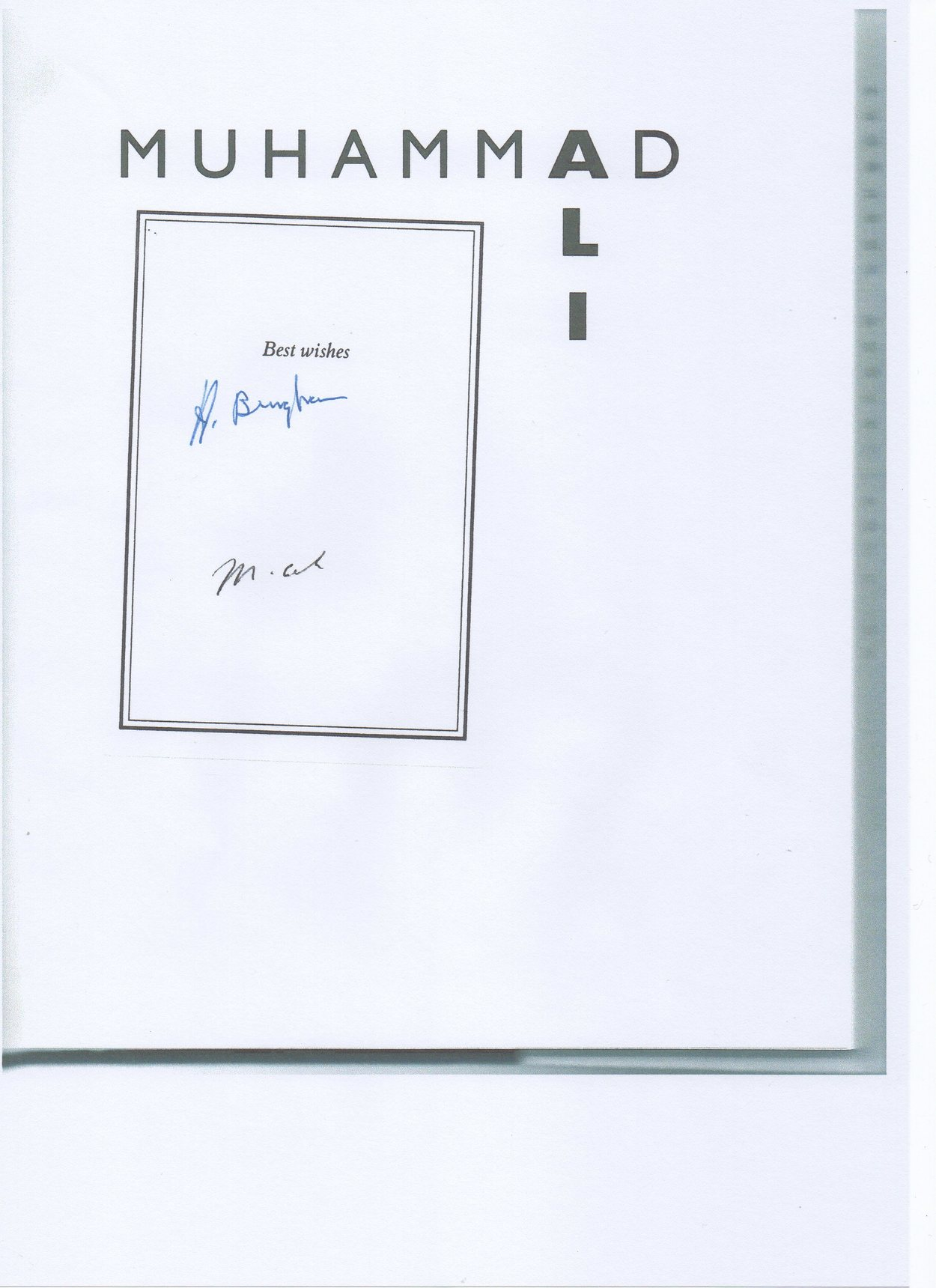 Book Signed by Muhammad Ali & Howard Bingham