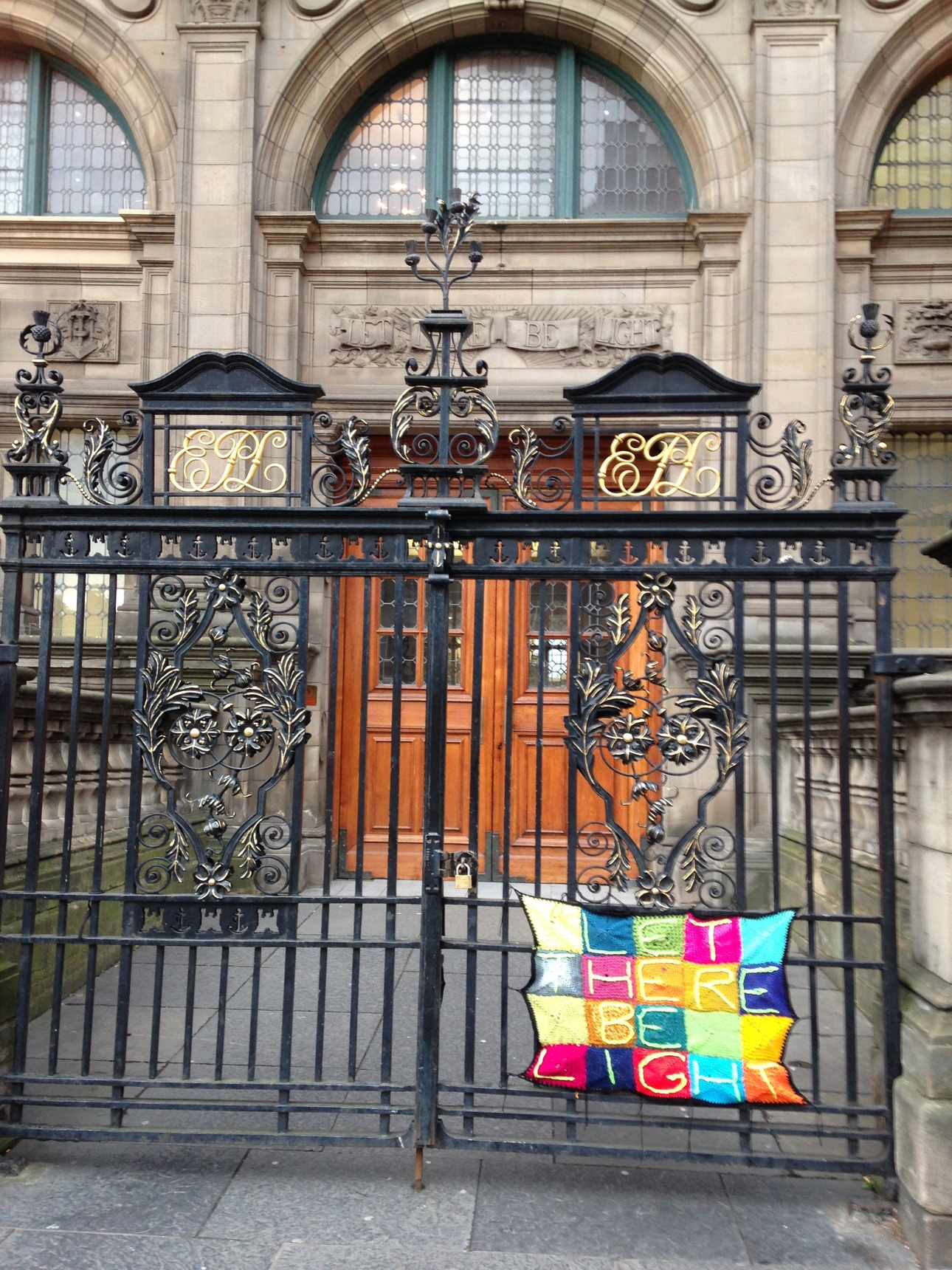 Yarn bombing at Central Library