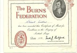 Burns Certificates 1961