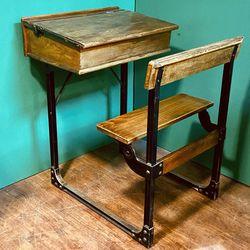 Typical 1950s School Desk