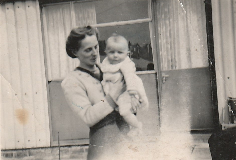 Reggie Buick and his mother Barbara Buick 1950