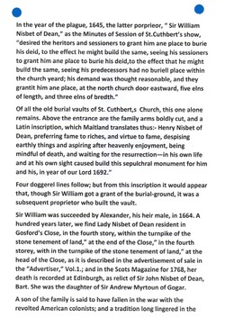 """""""Old and New Edinburgh THE NISBETS OF DEAN"""" PAGE 4"""