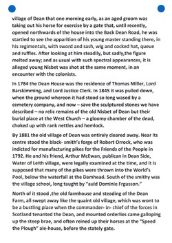 """""""Old and New Edinburgh THE NISBETS OF DEAN"""" PAGE 5"""