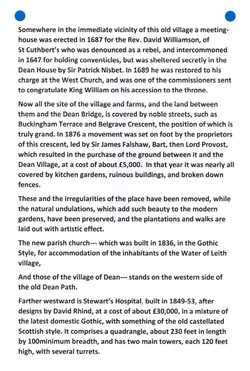 """""""Old and New Edinburgh THE NISBETS OF DEAN"""" PAGE 6"""
