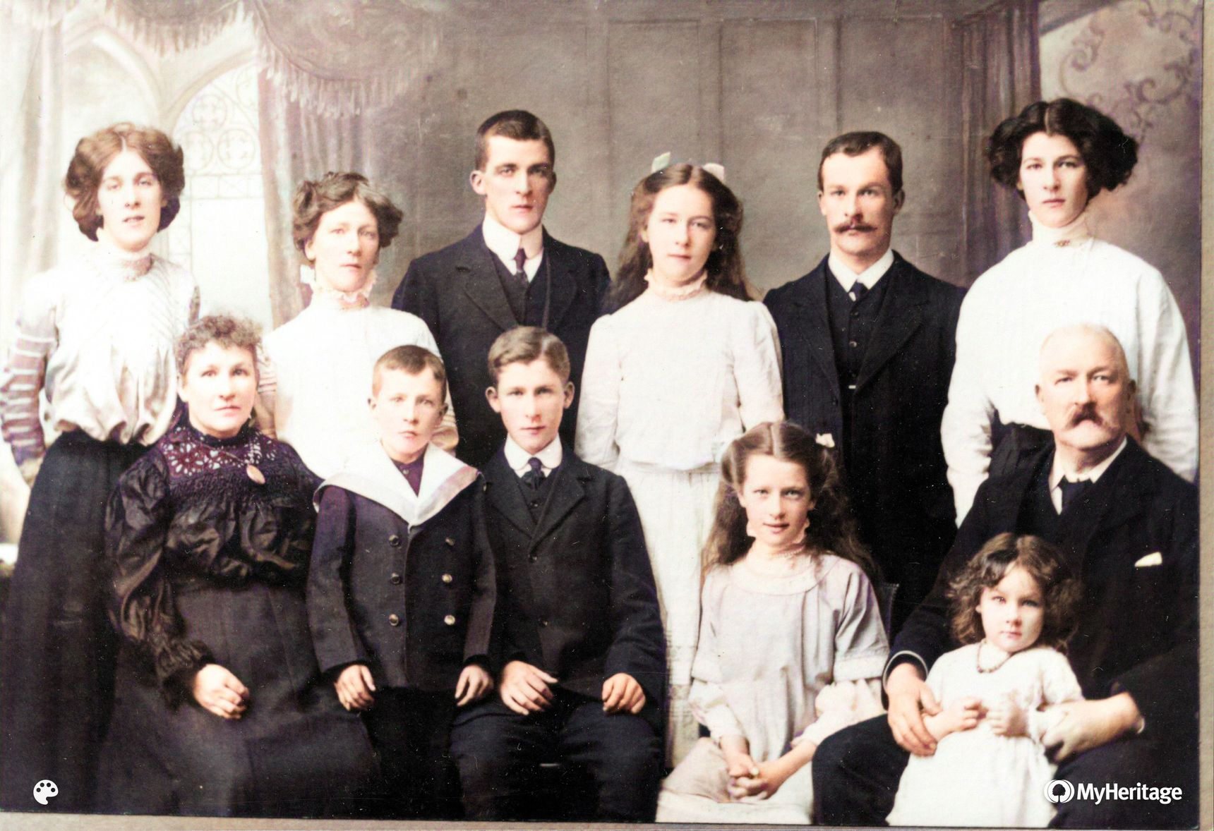 Grandpa with siblings & parents 1910