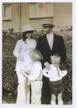 Marjory's Wedding, I am pictured here wearing a white trouser suit