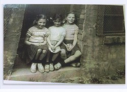 My Sister's and I Playing at the stair entrance to our House at 2 West Mill Lane, Dean Village.