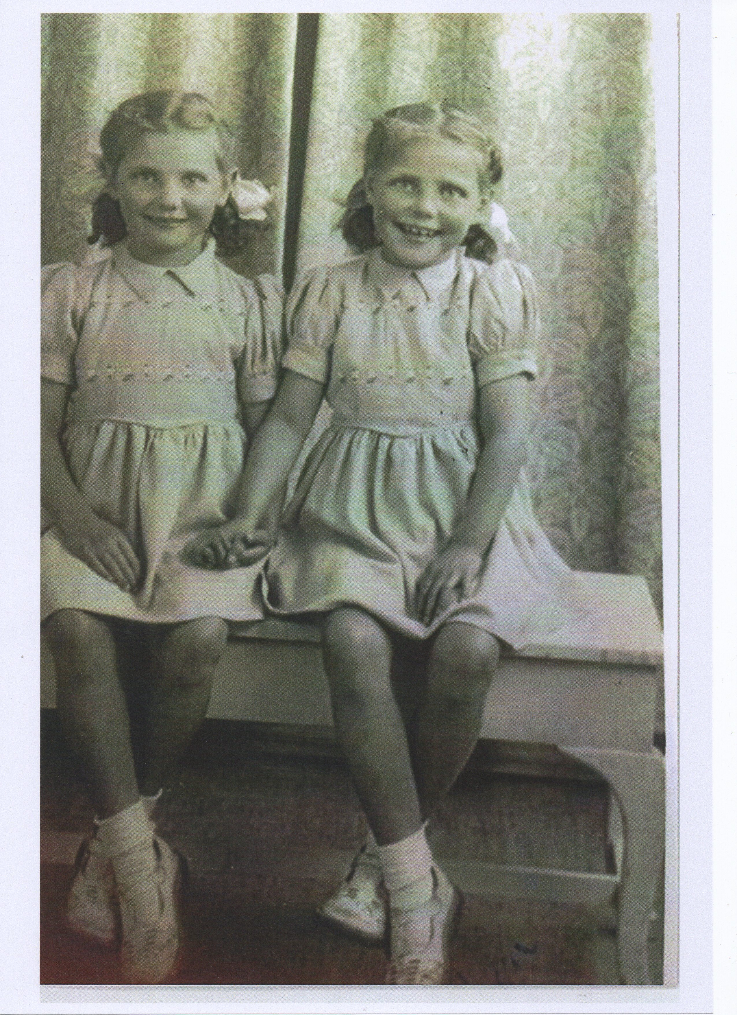 Photo of my Twin Sisters Wendy & Marjory.