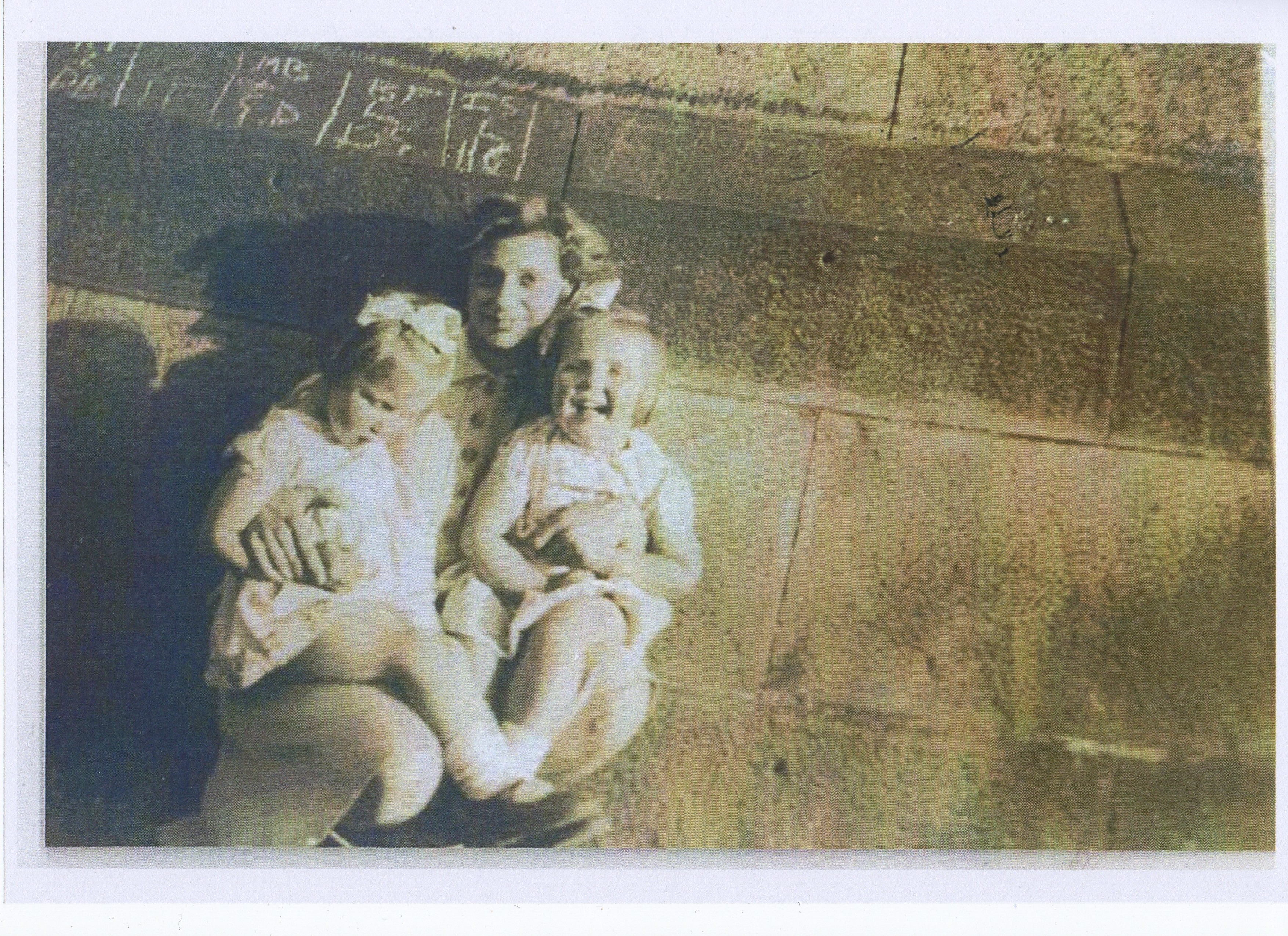 My Sister's - Dot with Twins Wendy & Marjory.