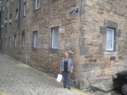 This is me, all these year's later in my Home Area of West Mill Lane, Dean Village.