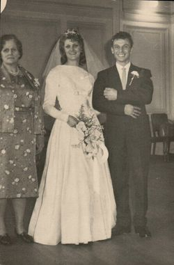 My Mum, My Sister Wendy on her Wedding Day and Ian my Brother who gave her away.