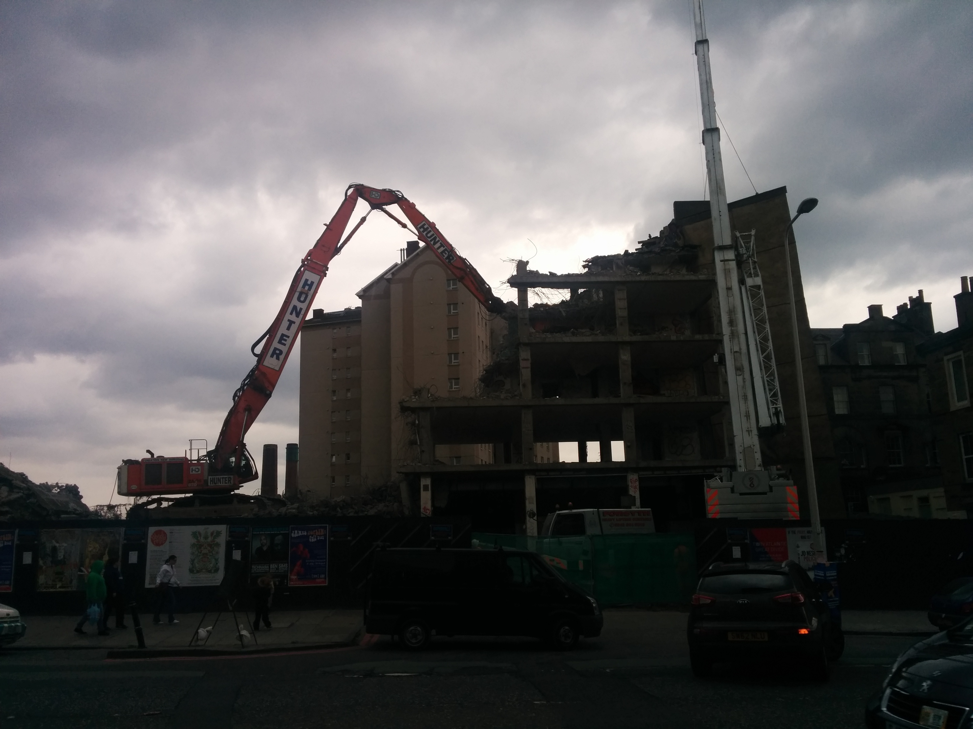 Demolition of Shrubhill House