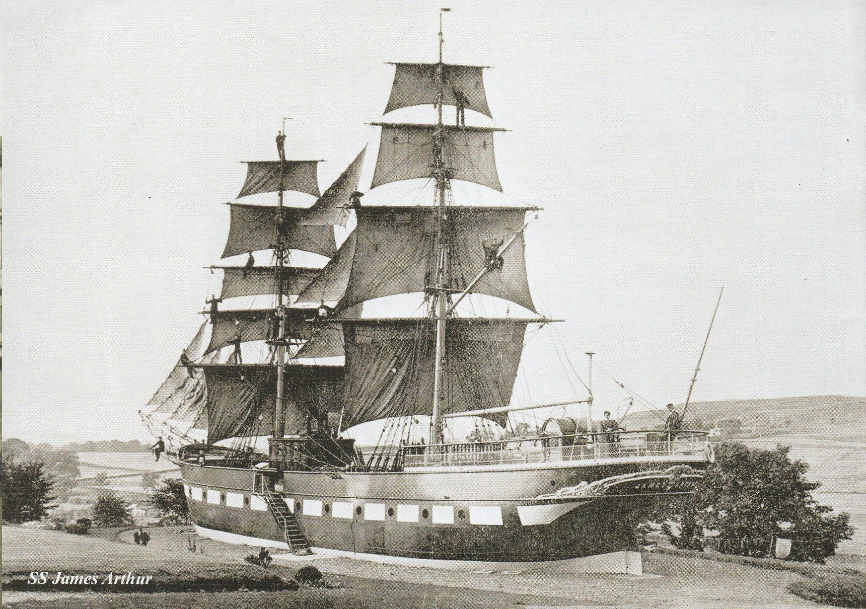 It's possible that John my mother's brother could have trained on this training ship.