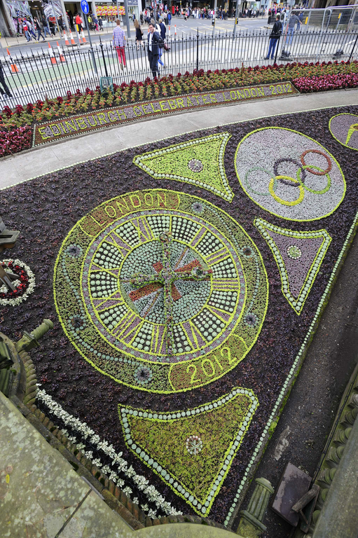 Floral Clock with Olympic themed design, West Princes Street Gardens