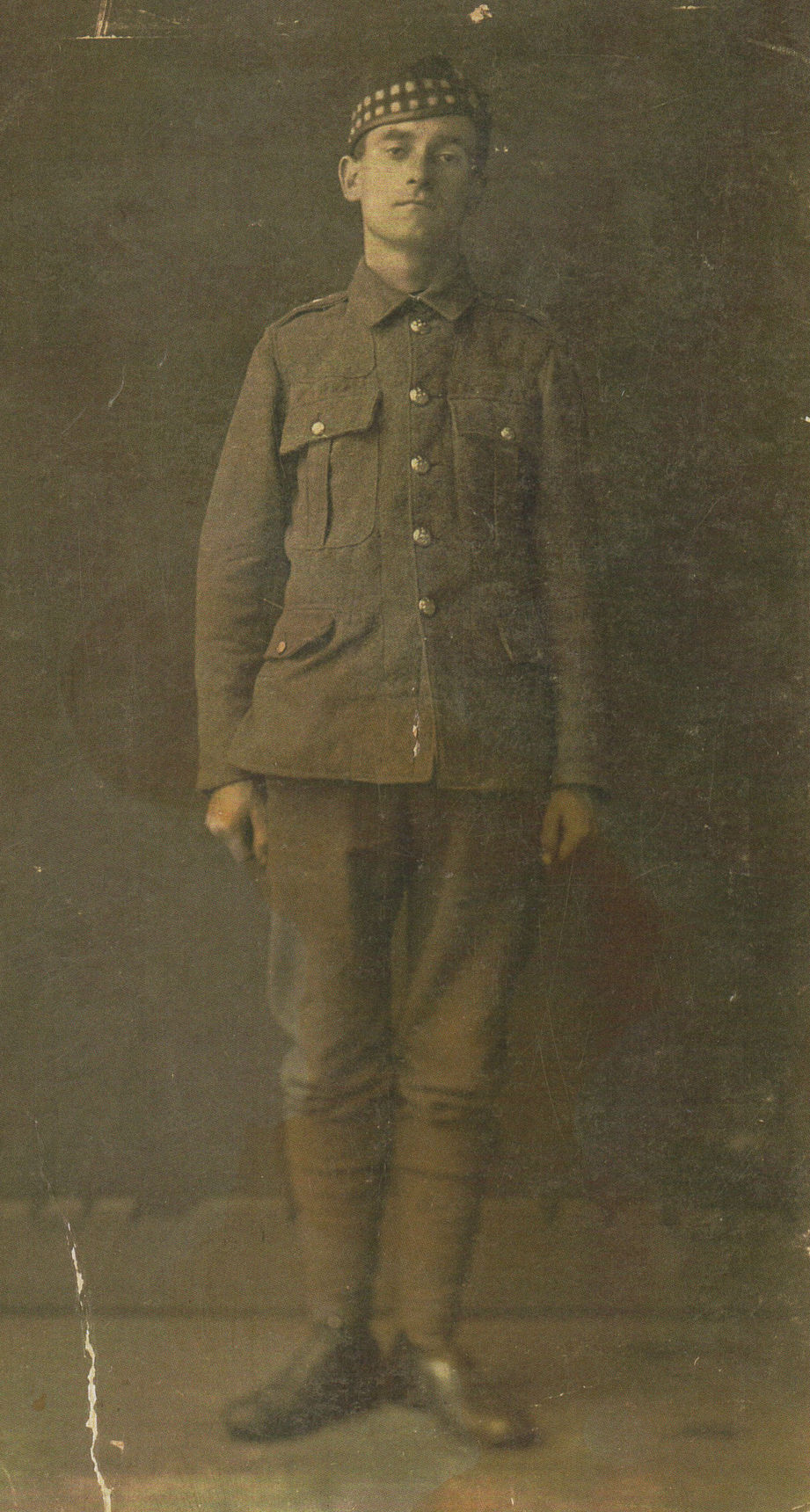 Aged 18 my Grandfather John Shaw is pictured here in his Army Uniform.