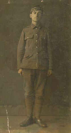 My Grandfather John Shaw  born 1896 - aged 18. Army photo Edinburgh.