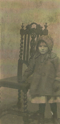 My Mother Bessie Wilson Finlay Shaw (Featherstonehaugh) aged 2 years.