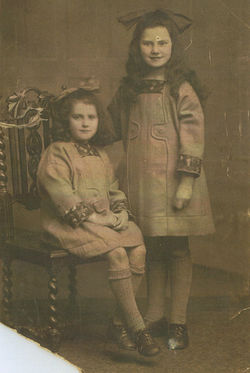 My Mother aged 5 with my Auntie Mamie on the right.