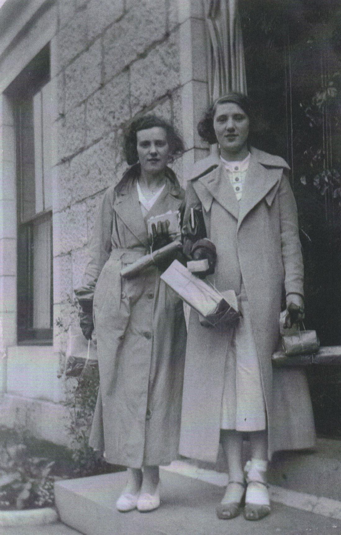 My Mum Bessie W.F. Shaw with her friend Belle Jackson at an Aberdeen Guest House.