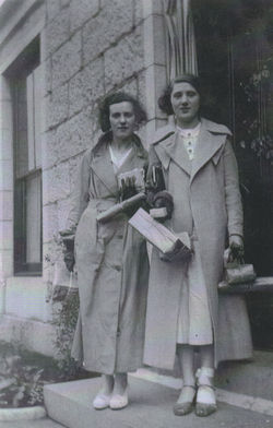 My Mum Bessie W.F. Shaw with her friend Belle Jackson at an Aberdeen Guest House.