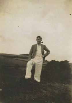 My Dad G.C. Featherstonehaugh walking the Pentland Hills.