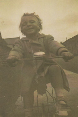 Me on my Bike at Ravelston Terrace, just along from the Dean Parish Church.