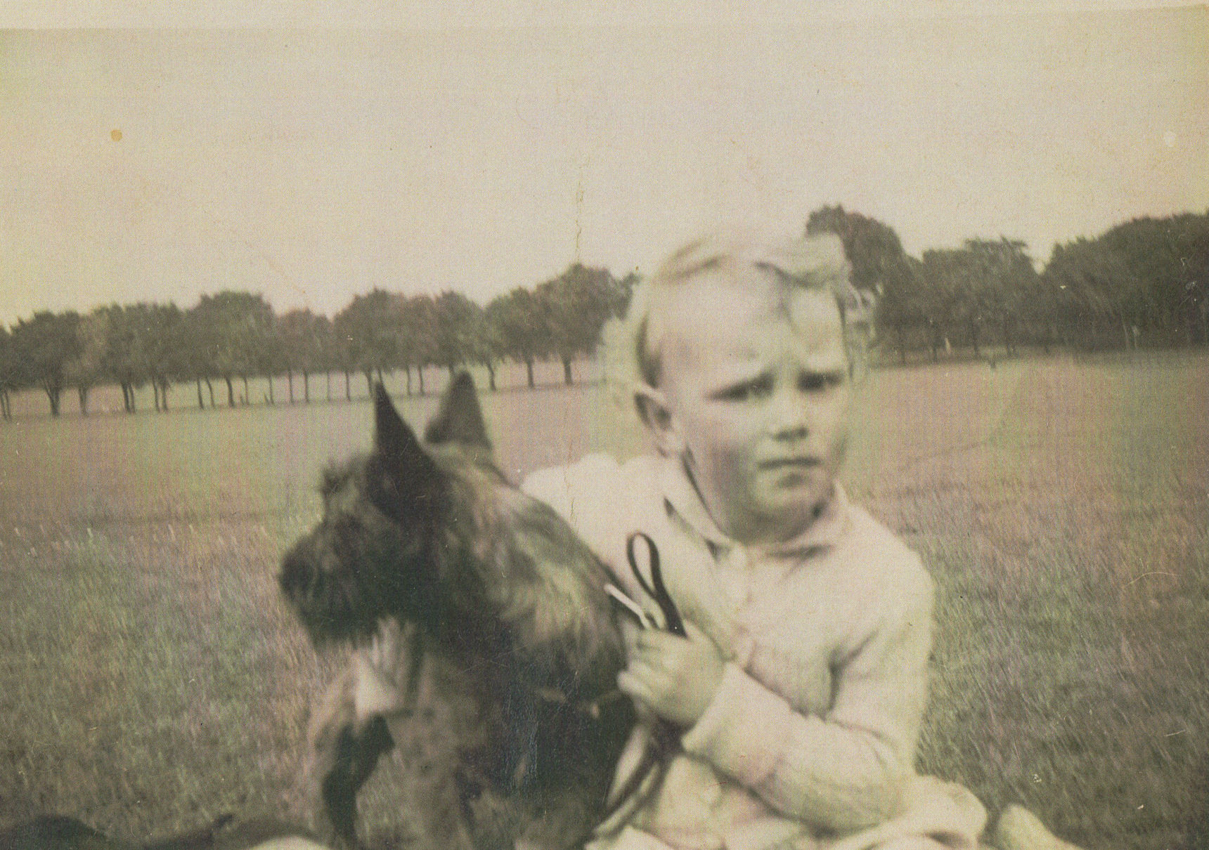 Me pictured at Queensferry Park with Granny Anderson's Scottie Dog.