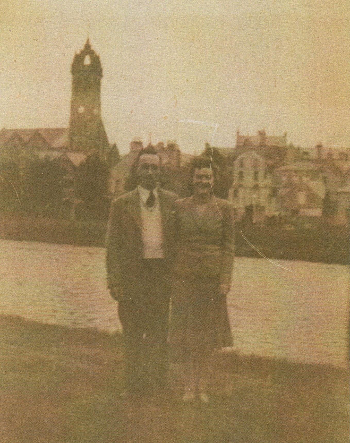 My Mum & Dad Gordon & Bessie Featherstonehaugh at Peebles.