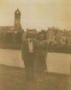 My Mum & Dad Gordon & Bessie Featherstonehaugh at Peebles.