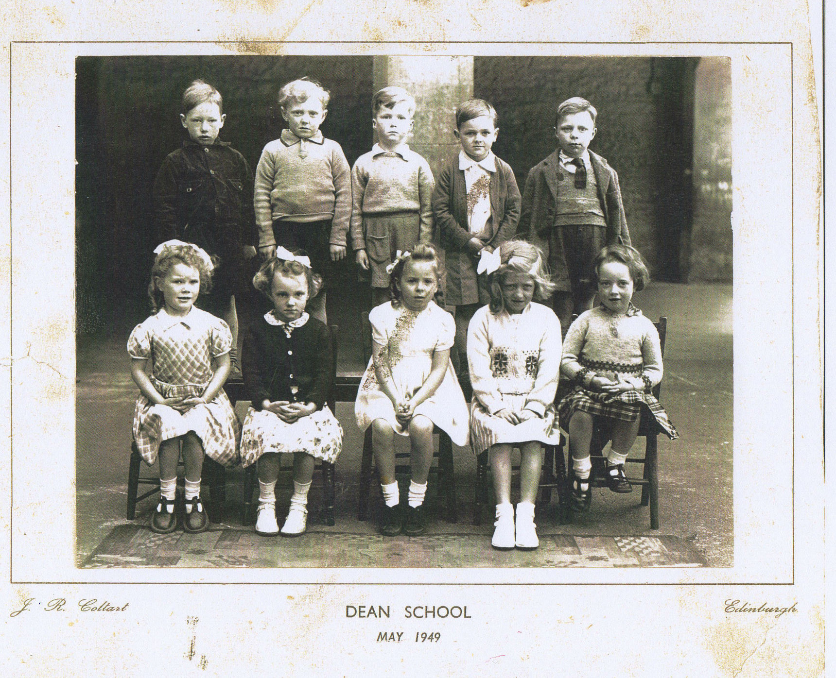 Thats Me in the front row second from the left in the Dean School Class Photo