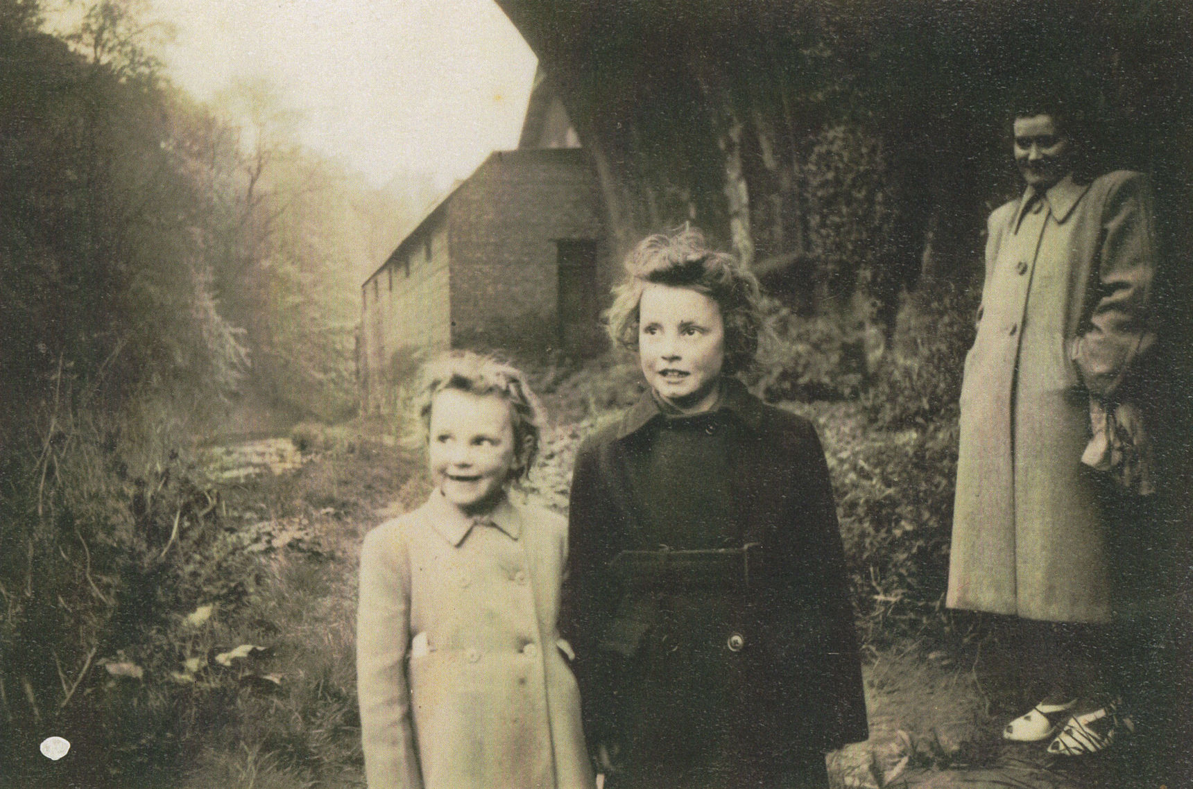Left to Right  - Me, Avril, and our Mum pictured up the Coddy below the Belford Bridge..