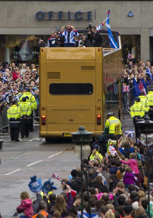 Olympic Parade in Edinburgh.