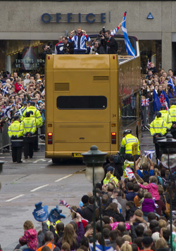 Olympic Parade in Edinburgh.