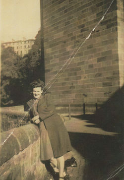My Mum down by the Waterside beside Miller Row under the Dean Bridge.