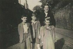 Dean Village children pictured in Dean Path, Dean Village.