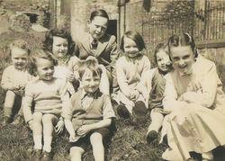 Summer - Dean Village children playing in the Auld Ducks Damside.