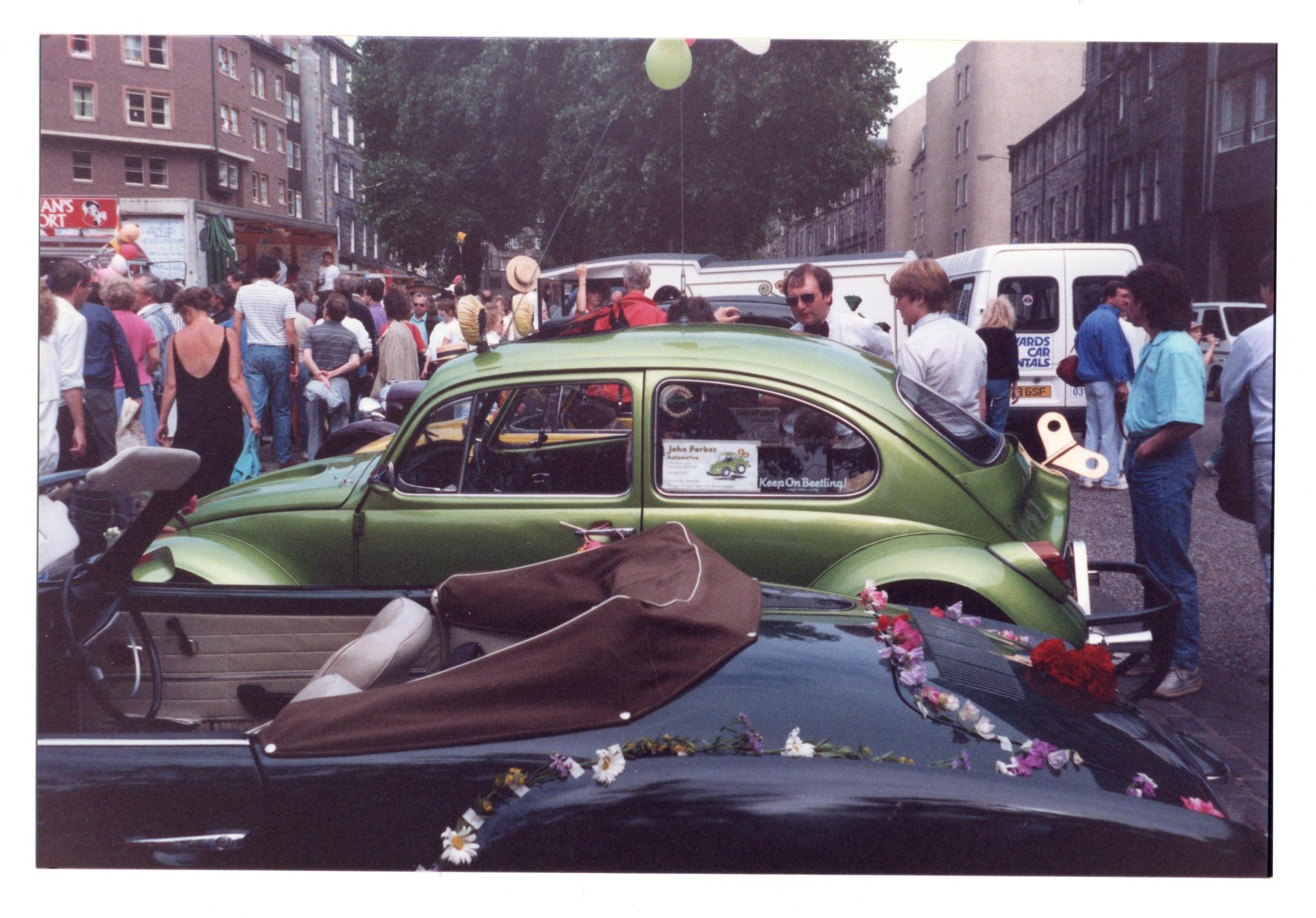 Grassmarket jazz festival crowd 1987