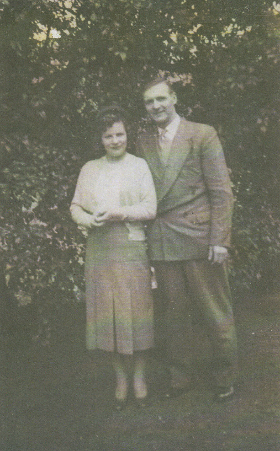 My Mother and Father, Nancy & Robert Burke pictured in the Botanical Garden.
