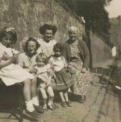 My Mum pictured in Dean Path with Dean Village Children and Neighbours.