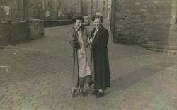I took this photo of my Mammie and Auntie Mammie Johnston who lived in the Well Court pictured in Damside.