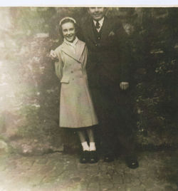 Me and Peter Jack a Neighbour who lived at number 41 Dean Path.